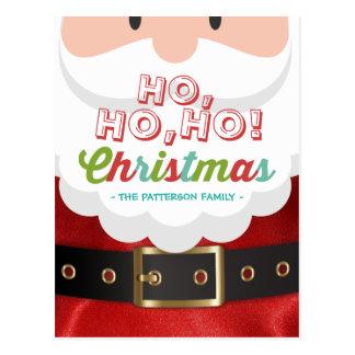Santa Claus Suit Ho Ho Ho Christmas Happy New Year Postcard