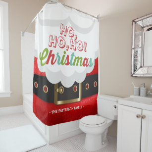 Santa Claus Suit Ho Christmas Happy New Year Shower Curtain