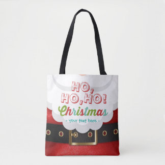 Santa Claus Suit Ho Ho Ho Christmas Happy New Year Tote Bag