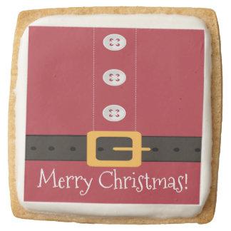 Santa Claus Suit Merry Christmas Square Shortbread Cookie