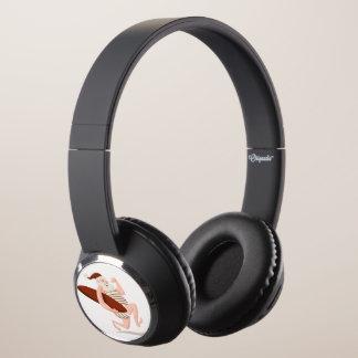 Santa claus surfing-santa claus cartoon-santa run headphones