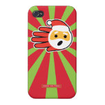 Hand shaped Santa Claus Surprised By Your Letter Cover For iPhone 4