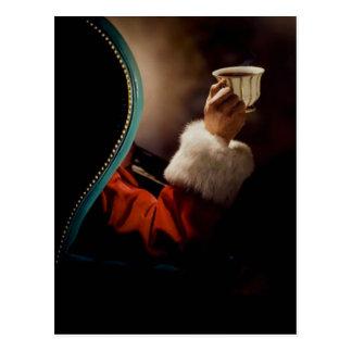 Santa Claus taking a break on Christmas Eve Postcard