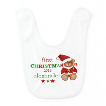 Santa Claus Teddy Bear Bib