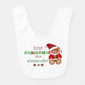 Santa Claus Teddy Bear Bib