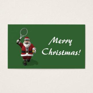 Santa Claus Tennis Player Business Card