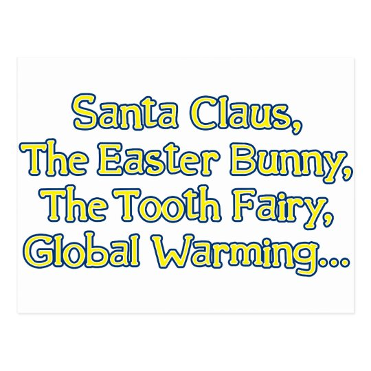 Santa Claus, The Easter Bunny, The Tooth Fairy, Gl Postcard