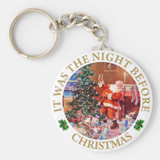 Santa Claus - The Night Before Christmas Keychain