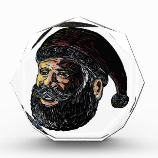 Santa Claus Three-Quarter View Scratchboard Award
