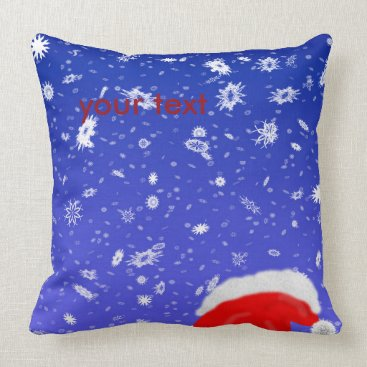 Christmas Themed Santa Claus Throw Pillow