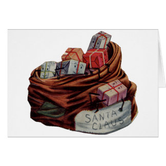 Santa Claus Toy Bag Card