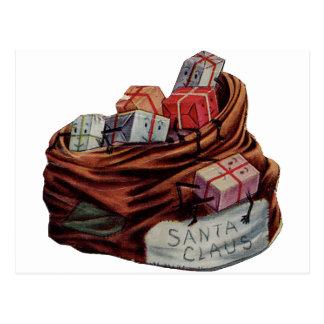 Santa Claus Toy Bag Postcard