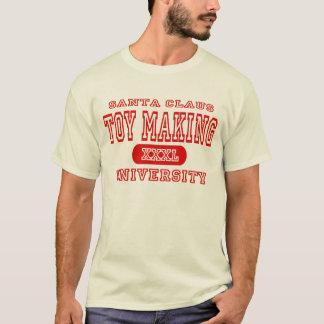 Santa Claus Toy Making University T-Shirt