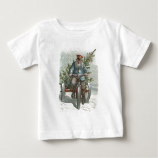 Santa Claus Tricycle Delivering Christmas Tree T-shirt