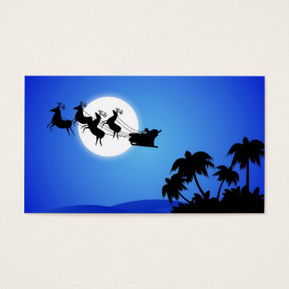Santa Claus Tropical Christmas Tree Business Card