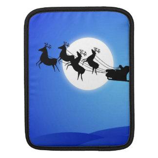 Santa Claus Tropical Christmas Tree Sleeve For iPads