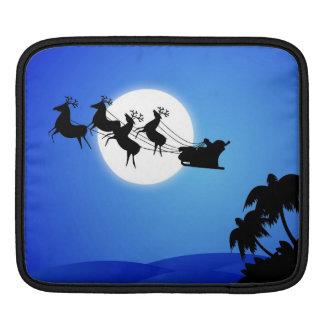 Santa Claus Tropical Christmas Tree iPad Sleeves