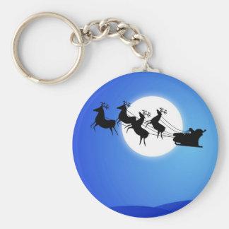 Santa Claus Tropical Christmas Tree Key Chain