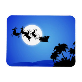 Santa Claus Tropical Christmas Tree Magnet