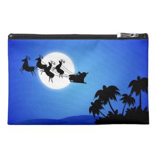 Santa Claus Tropical Christmas Tree Travel Accessory Bag