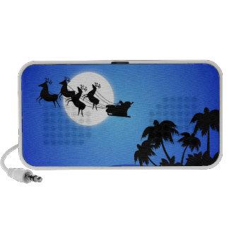 Santa Claus Tropical Christmas Tree Travel Speaker