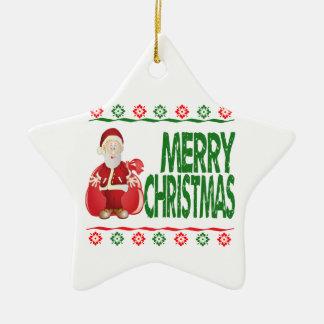 Santa Claus Ugly Christmas Sweater Ornament Christmas Ornaments