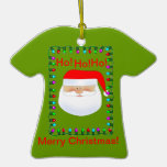 Santa Claus Ugly Sweater Ornament