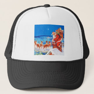 Santa Claus Up On The Rooftop In The Snow Trucker Hat