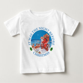Santa Claus Up on The Rooftop on Christmas Eve Infant T-shirt