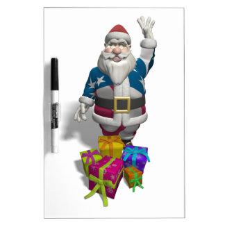 Santa Claus US Flag Jacket Dry Erase Boards