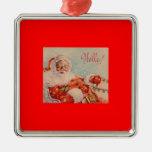Santa Claus Vintage Art Ornament