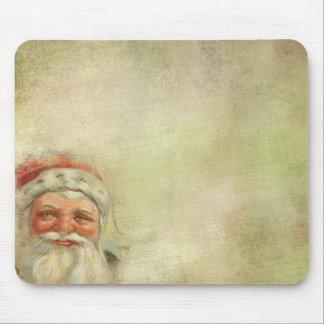 Santa Claus Vintage Background Mouse Pad