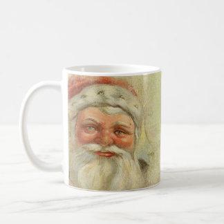 Santa Claus Vintage Background Classic White Coffee Mug