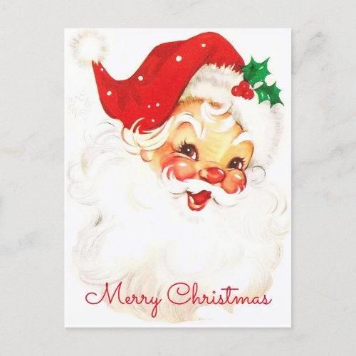 Santa Claus Vintage Christmas Holiday Postcard