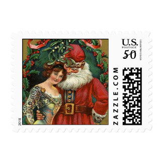 Santa Claus Vintage Christmas Stamps