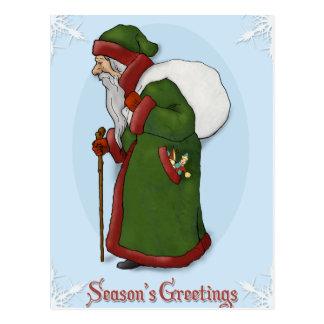 Santa Claus Vintage Style Post card