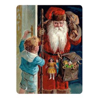 Santa Claus Visiting a Boy Card