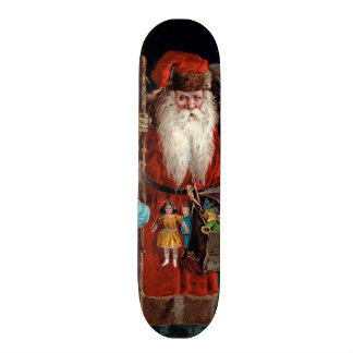 Santa Claus Visiting a Boy Skateboard Deck