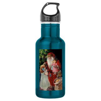 Santa Claus Visiting a Girl 18oz Water Bottle