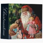 Santa Claus Visiting a Girl Binder