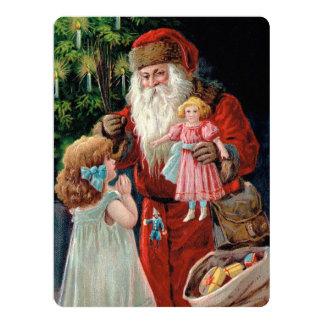 Santa Claus Visiting a Girl Card