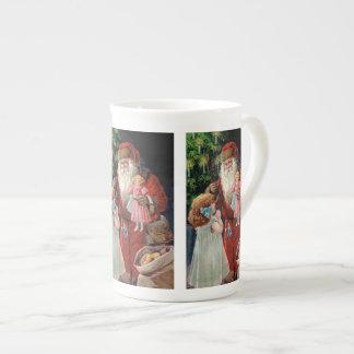 Santa Claus Visiting a Girl Tea Cup