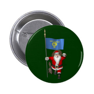 Santa Claus Visiting The Beaver State Button