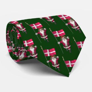 Santa Claus Visits Denmark Dannebrog Tie