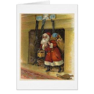 Santa Claus Visits Greeting Card