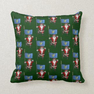 Santa Claus Visits The Beaver State Throw Pillow