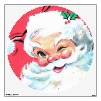 Santa Claus Wall Decal for Christmas Decoration