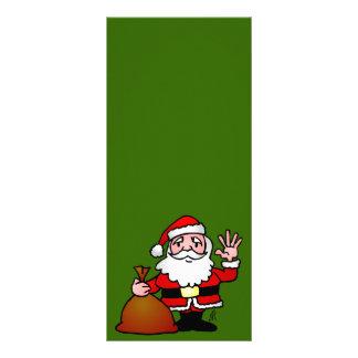 Santa Claus waving Custom Rack Card