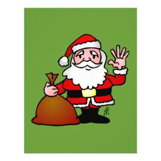 Santa Claus waving Personalized Flyer
