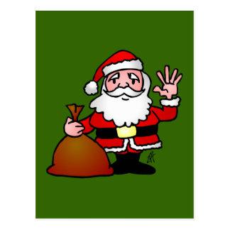 Santa Claus waving Postcard